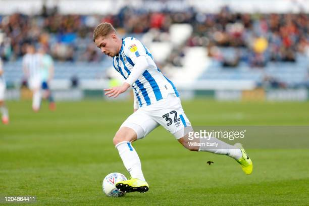 Emile Smith Rowe of Huddersfield Town during the Sky Bet Championship match between Huddersfield Town and Queens Park Rangers at John Smith's Stadium...
