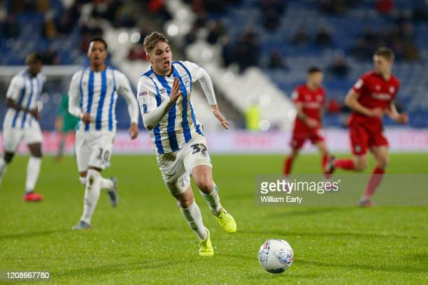 Emile Smith Rowe of Huddersfield Town during the Sky Bet Championship match between Huddersfield Town and Bristol City at John Smith's Stadium on...