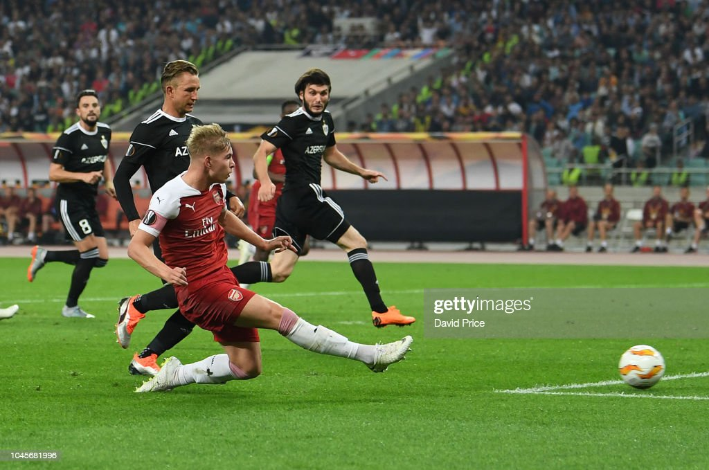 Qarabag FK v Arsenal - UEFA Europa League - Group E : News Photo