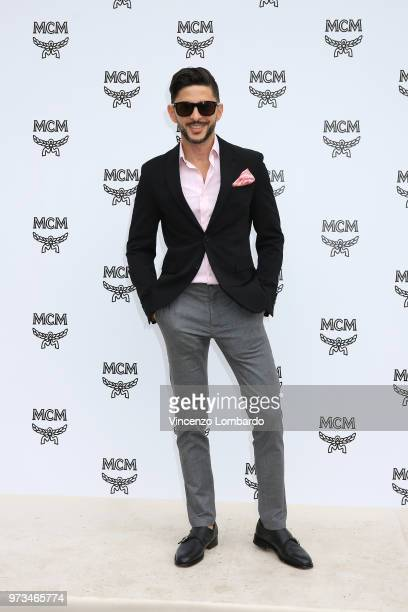Emile Zarife attends the MCM Fashion Show Spring/Summer 2019 during the 94th Pitti Immagine Uomo on June 13 2018 in Florence Italy