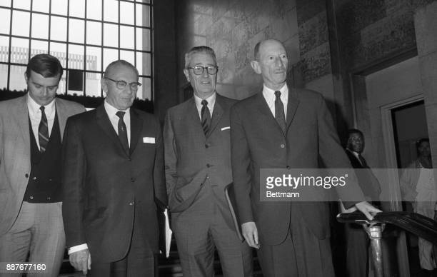 Emile Zola Berman New York attorney arrives at the Hall of Justice accompanied by Russell Parson and Grant B Cooper as Berman officially entered the...