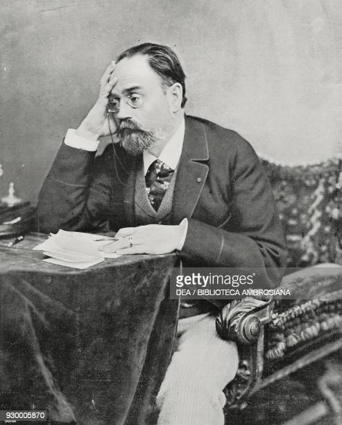 Emile Zola French writer journalist and literary critic photo by Henri Le Lieure from L'illustrazione Italiana Year XXIX No 40 October 5 1902