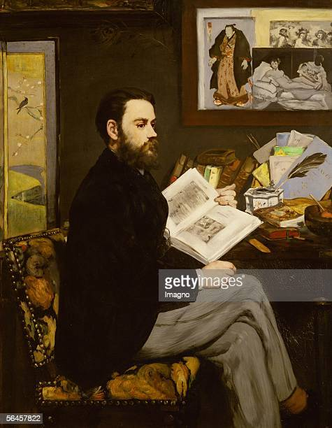 Emile Zola Oil on canvas 1868 1465 x 114 cm RF 2205 [Emile Zola Gemaelde 1868]