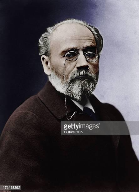 Emile Zola portrait French writer and novelist 2 April 1840 29 September 1902 Colourised version