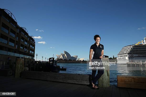 Emilee Cherry poses during the Australian Youth Olympic Rugby Sevens squad announcement on May 28 2014 in Sydney Australia