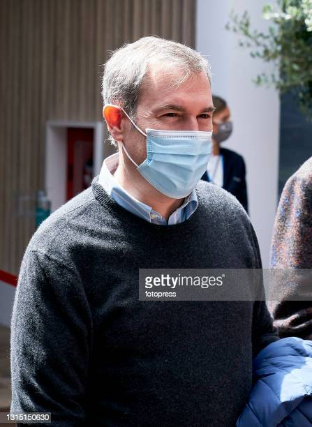 Emili Roussaud attends to the ATP Barcelona Open Banc Sabadell 2021 at Real Club De Tenis Barcelona on April 25, 2021 in Barcelona, Spain.