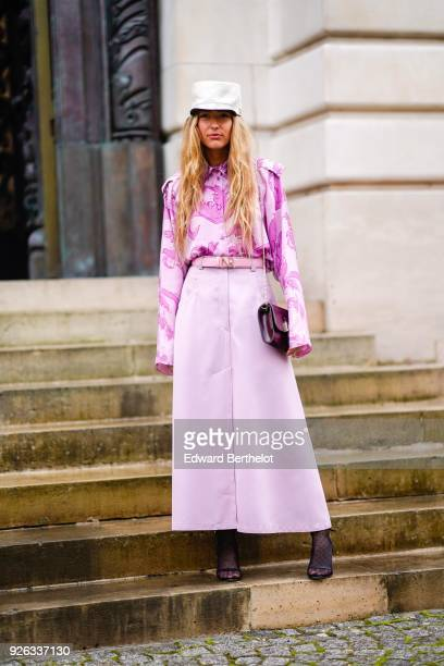 Emili Sindlev attends the Nina Ricci show as part of the Paris Fashion Week Womenswear Fall/Winter 2018/2019 on March 2 2018 in Paris France
