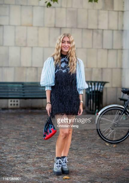 Emili Sindlev is seen outside Saks Potts during Copenhagen Fashion Week Spring/Summer 2020 on August 08 2019 in Copenhagen Denmark