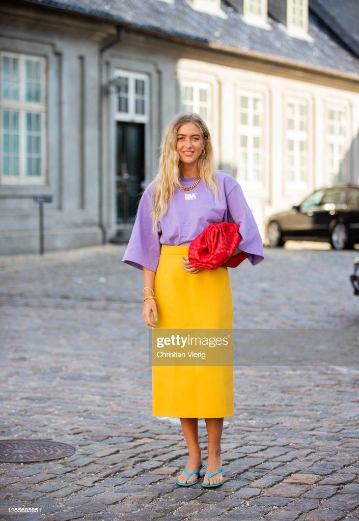 Street Style - Day 4 - Copenhagen Fashion Week Spring/Summer 2021 : Photo d'actualité