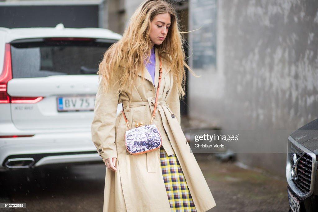 Street Style Day 2 - Copenhagen Fashion Week A/W 18 : News Photo
