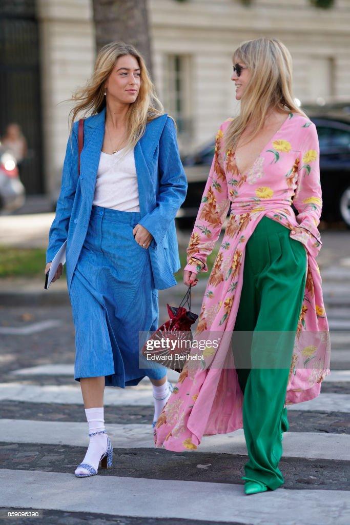 Street Style Arrivals At Nina Ricci : Paris Fashion Week Womenswear Spring/Summer 2018 : Day Four : News Photo
