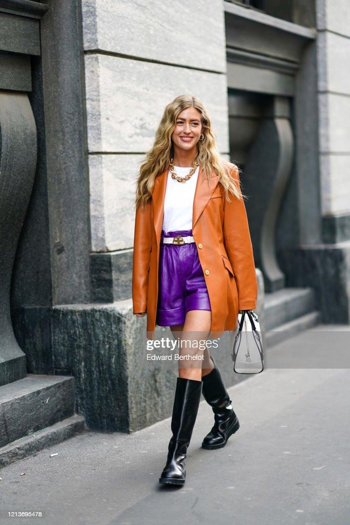 Street Style: February 22nd - Milan Fashion Week Fall/Winter 2020-2021 : News Photo