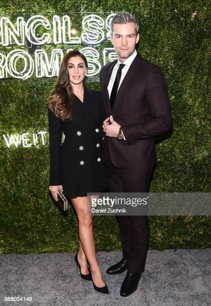 Emilia Bechrakis and Ryan Serhant attend the 2017 Pencils of Promise Gala at Central Park on December 7 2017 in New York City