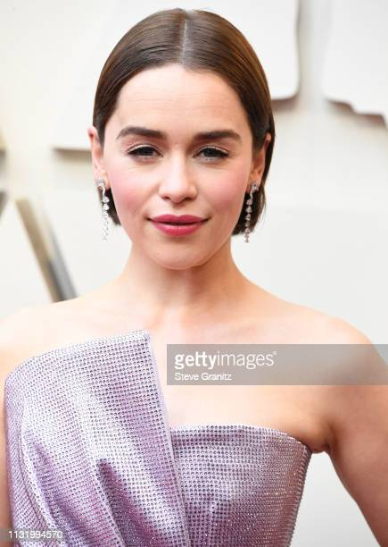Emilia Clarke arrives at the 91st Annual Academy Awards at Hollywood and Highland on February 24 2019 in Hollywood California