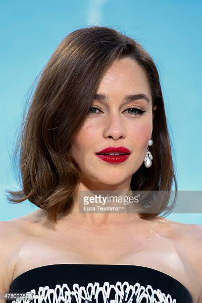 Emilia Clarke arrives at the European Premiere of 'Terminator Genisys' at the CineStar Sony Center on June 21 2015 in Berlin Germany
