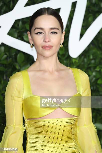 Emilia Clarke arrives at The Fashion Awards 2019 held at Royal Albert Hall on December 02 2019 in London England