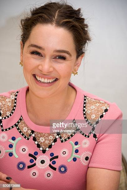 Emilia Clarke at the 'Game of Thrones' Press Conference at the Four Seasons Hotel on April 11 2016 in Beverly Hills California