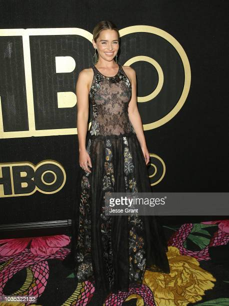 Emilia Clarke attends HBO's Post Emmy Awards Reception at The Plaza at the Pacific Design Center on September 17 2018 in Los Angeles California