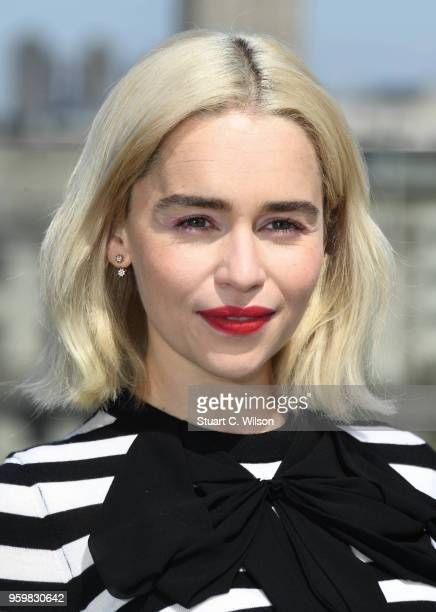 Emilia Clarke attends Solo A Star Wars Story photocall on May 18 2018 in London United Kingdom