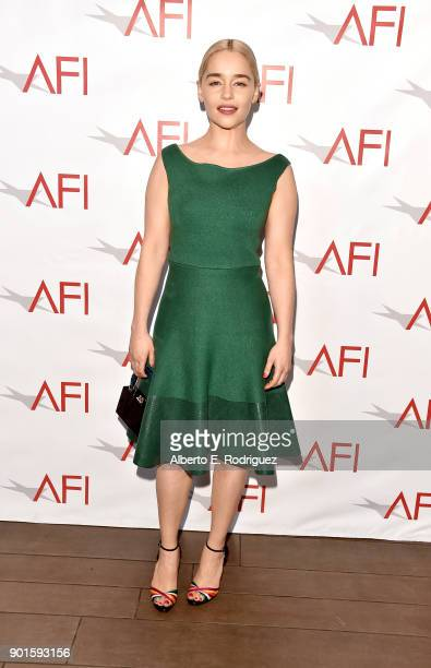Emilia Clarke attends the 18th Annual AFI Awards at Four Seasons Hotel Los Angeles at Beverly Hills on January 5 2018 in Los Angeles California