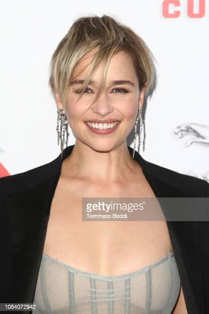 Emilia Clarke attends the 2018 British Academy Britannia Awards presented by Jaguar Land Rover and American Airlines at The Beverly Hilton Hotel on...