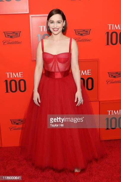Emilia Clarke attends the 2019 Time 100 Gala at Frederick P Rose Hall Jazz at Lincoln Center on April 23 2019 in New York City