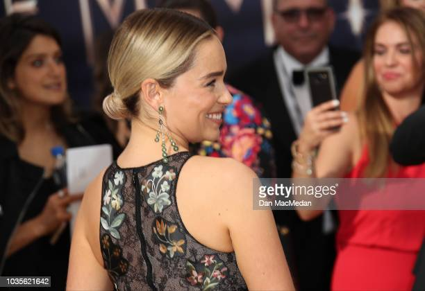 Emilia Clarke attends the 70th Emmy Awards at Microsoft Theater on September 17 2018 in Los Angeles California