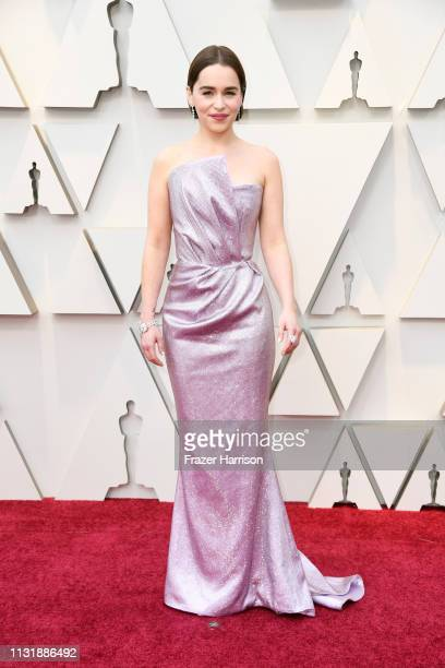 Emilia Clarke attends the 91st Annual Academy Awards at Hollywood and Highland on February 24, 2019 in Hollywood, California.