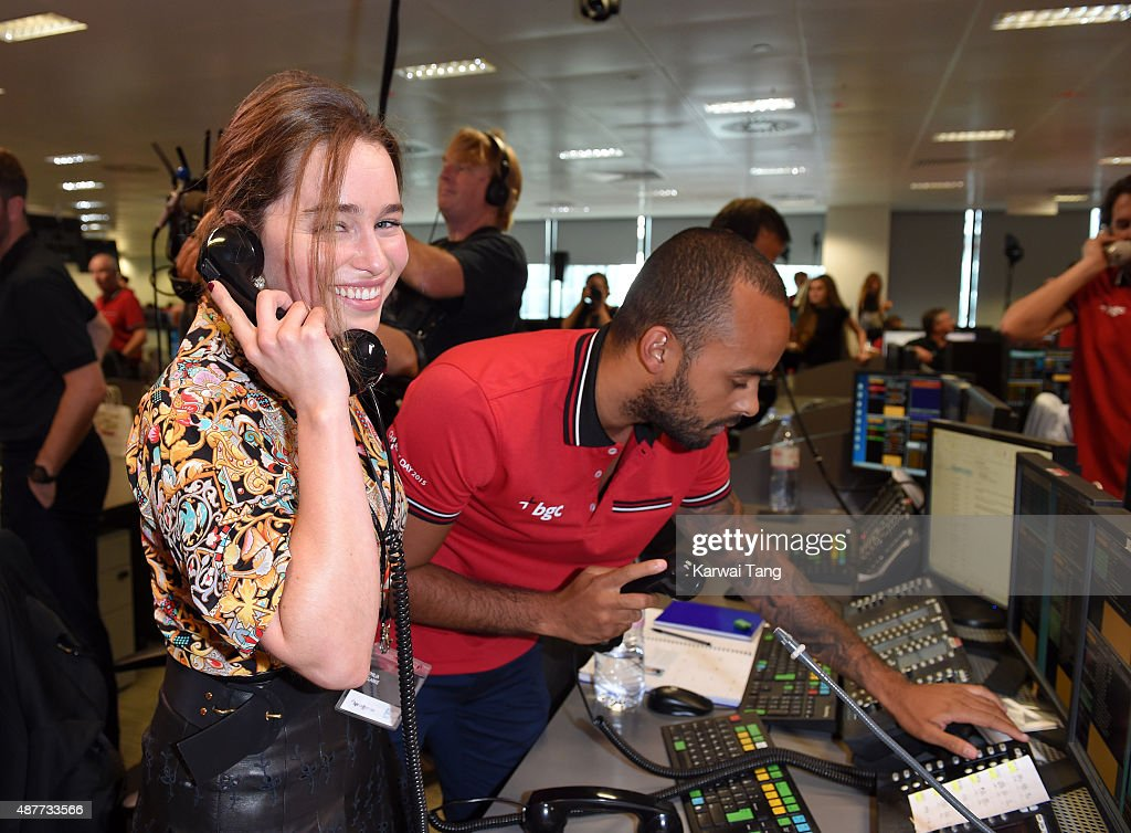 Emilia Clarke attends the annual BGC Global Charity Day at BGC Partners on September 11, 2015 in London, England.
