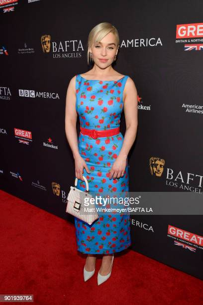 Emilia Clarke attends The BAFTA Los Angeles Tea Party at Four Seasons Hotel Los Angeles at Beverly Hills on January 6 2018 in Los Angeles California