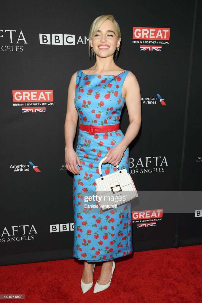 Emilia Clarke attends The BAFTA Los Angeles Tea Party at Four Seasons Hotel Los Angeles at Beverly Hills on January 6, 2018 in Los Angeles, California.