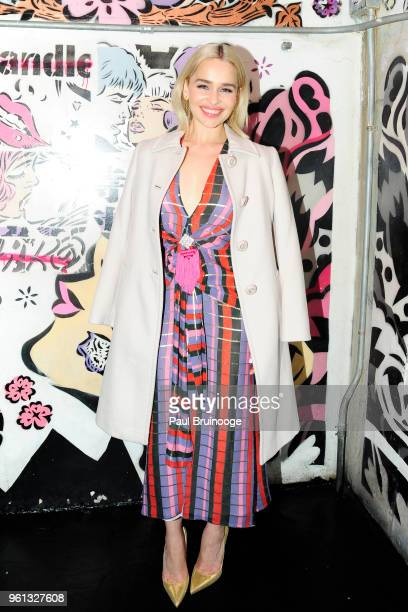 """Emilia Clarke attends The Cinema Society With Nissan & FIJI Water Host The After Party For """"Solo: A Star Wars Story at Le Bain & Rooftop at The..."""