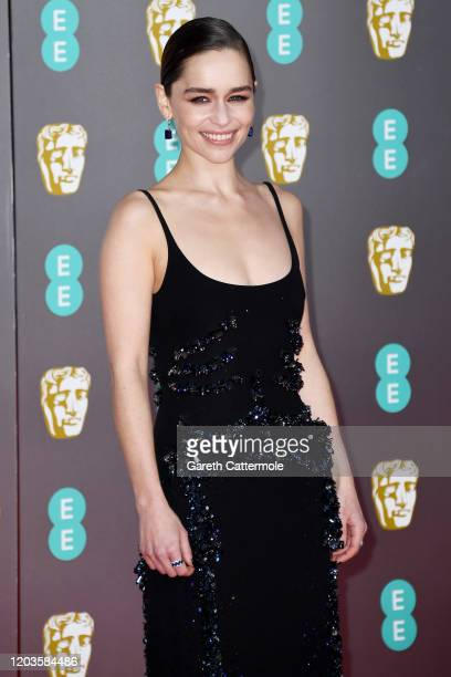 Emilia Clarke attends the EE British Academy Film Awards 2020 at Royal Albert Hall on February 02, 2020 in London, England.