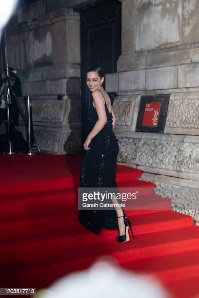 Emilia Clarke attends the EE British Academy Film Awards 2020 at Royal Albert Hall on February 02 2020 in London England
