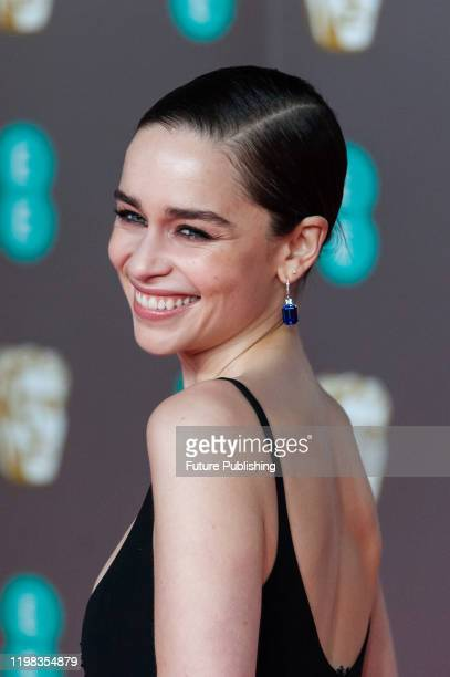 Emilia Clarke attends the EE British Academy Film Awards ceremony at the Royal Albert Hall on 02 February, 2020 in London, England.- PHOTOGRAPH BY...