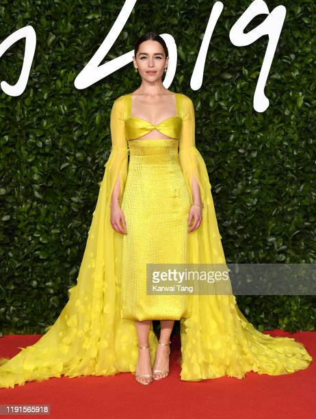 Emilia Clarke attends The Fashion Awards 2019 at the Royal Albert Hall on December 02 2019 in London England