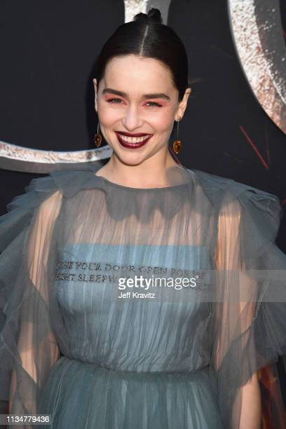 """Emilia Clarke attends the """"Game Of Thrones"""" Season 8 NY Premiere on April 3, 2019 in New York City."""