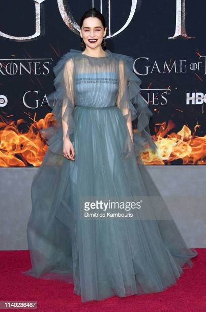 Emilia Clarke attends the Game Of Thrones Season 8 Premiere on April 03 2019 in New York City