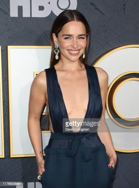 Emilia Clarke attends the HBO's Post Emmy Awards Reception at The Plaza at the Pacific Design Center on September 22 2019 in Los Angeles California