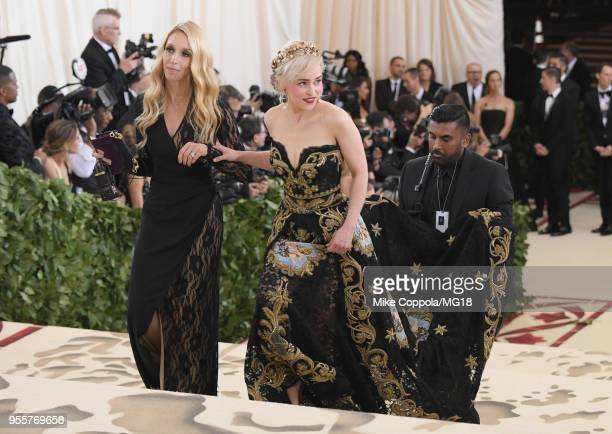 Emilia Clarke attends the Heavenly Bodies Fashion The Catholic Imagination Costume Institute Gala at The Metropolitan Museum of Art on May 7 2018 in...