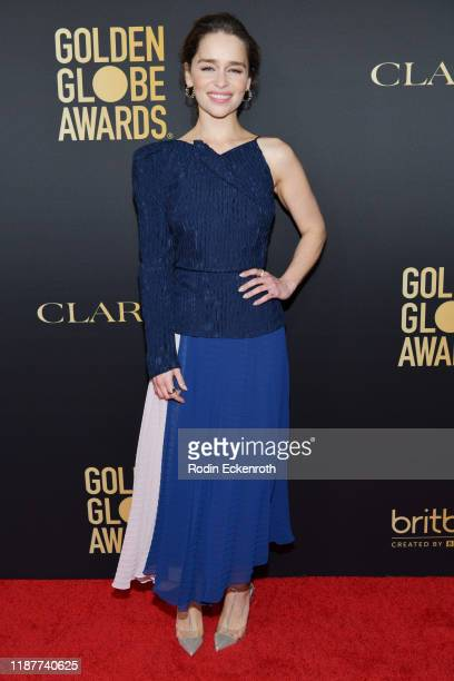 Emilia Clarke attends the HFPA And THR Golden Globe ambassador party at Catch LA on November 14, 2019 in West Hollywood, California.