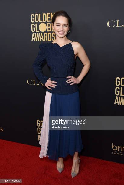 Emilia Clarke attends the Hollywood Foreign Press Association and The Hollywood Reporter Celebration of the 2020 Golden Globe Awards Season and...