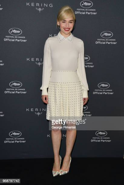 Emilia Clarke attends the Kering Women In Motion photocall during the 71st annual Cannes Film Festival at Majestic Hotel on May 15 2018 in Cannes...