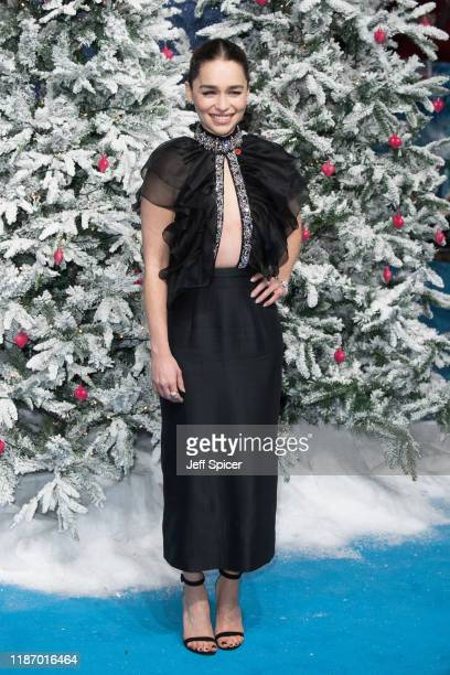 """Emilia Clarke attends the """"Last Christmas"""" UK Premiere at BFI Southbank on November 11, 2019 in London, England."""