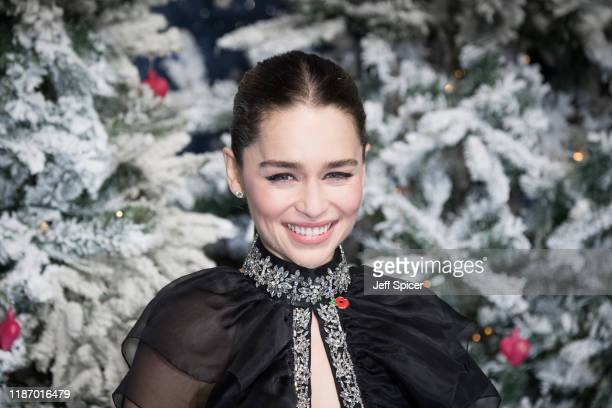 Emilia Clarke attends the Last Christmas UK Premiere at BFI Southbank on November 11 2019 in London England