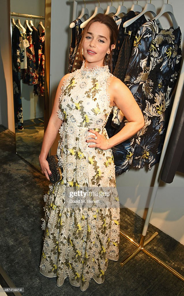 Emilia Clarke attends the launch of the first Erdem flagship store on September 9, 2015 in London, England.