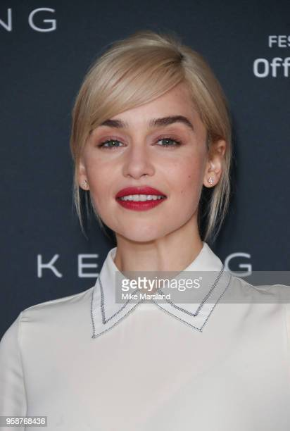 Emilia Clarke attends the photocall Kering Women In Motion: Emilia Clarke during the 71st annual Cannes Film Festival at Majestic Hotel on May 15,...