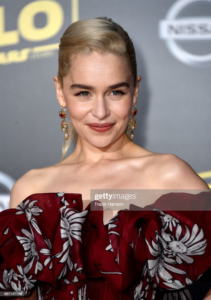 Emilia Clarke attends the premiere of Disney Pictures and Lucasfilm's 'Solo: A Star Wars Story' at the El Capitan Theatre on May 10, 2018 in Los Angeles, California.