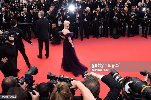 Emilia Clarke attends the screening of 'Solo A Star Wars Story' during the 71st annual Cannes Film Festival at Palais des Festivals on May 15 2018 in...