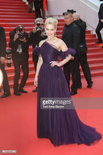 """Emilia Clarke attends the screening of """"Solo: A Star Wars Story"""" during the 71st annual Cannes Film Festival at Palais des Festivals on May 15, 2018..."""